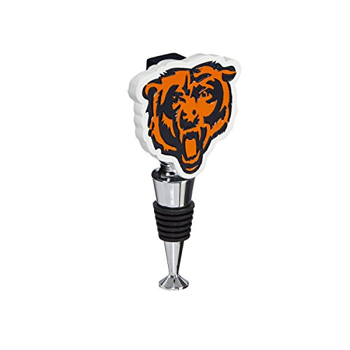 Team Sports America Chicago Bears Hand-Painted Team Logo Bottle Stopper