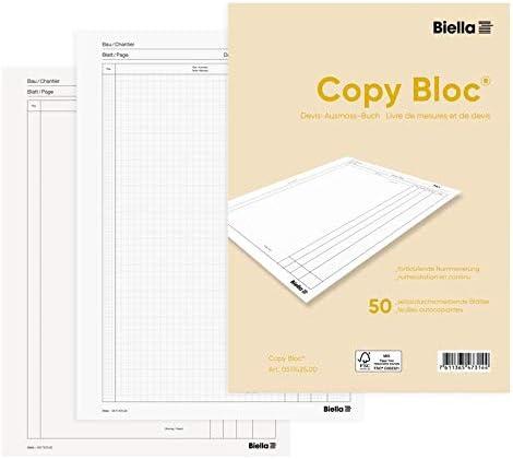 Biella Devis Ausmassbuch-Buch Copy-Bloc, A4, 50 Blatt perforiert