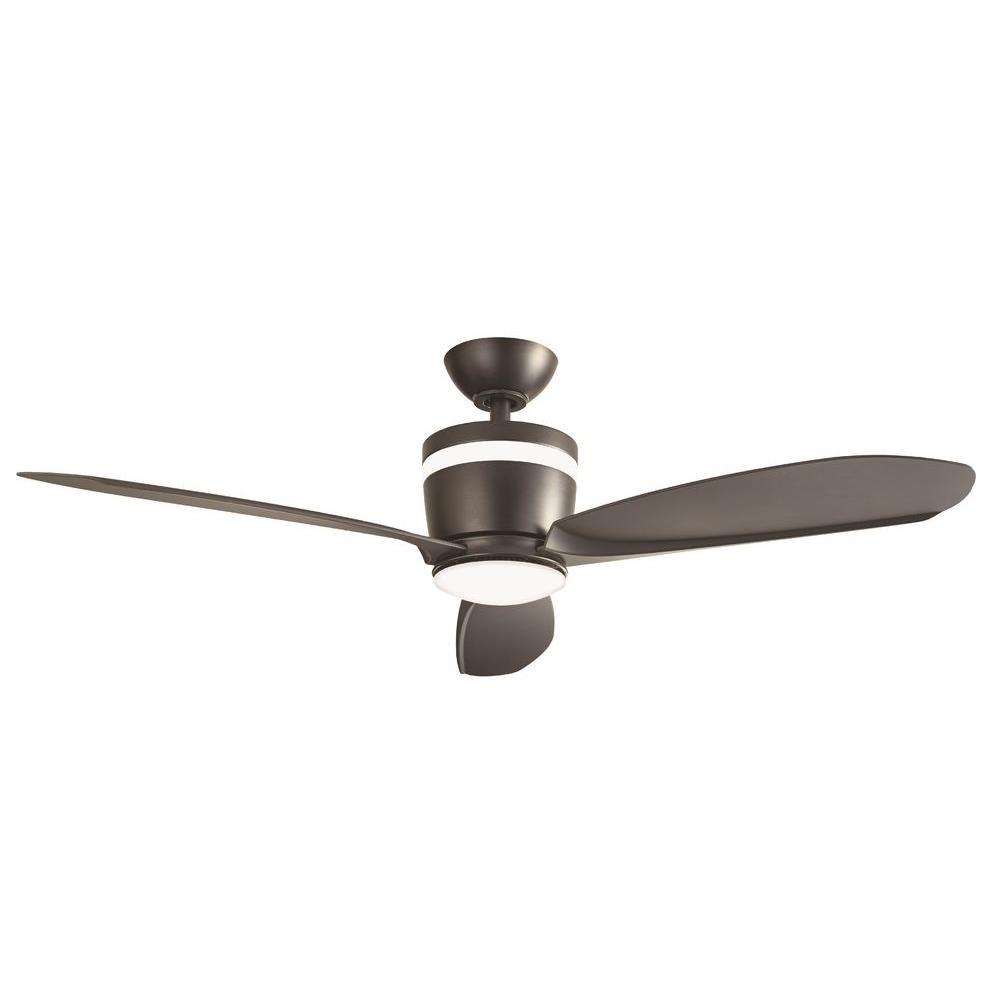 Home Decorators Collection Federigo 48 in. LED Indoor Matte Black Ceiling Fan
