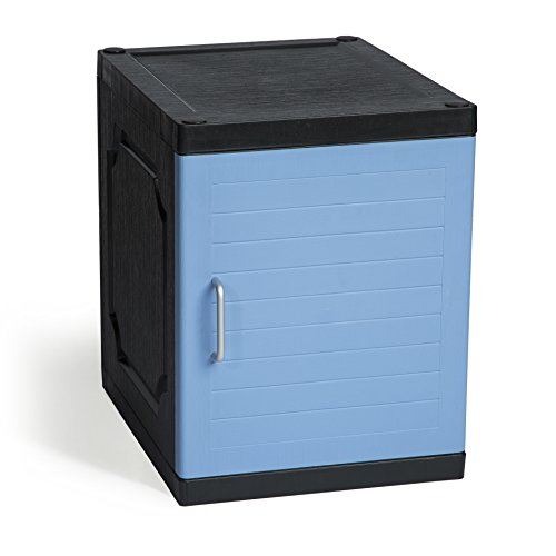 Kids Footlocker (Jink Kids Locker - Stackable & Connectible Storage Lockers, Perfect chest for Office Home Toys School, Blue Handle)