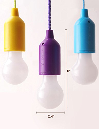 bright zeal set of 3 pull cord led light bulbs in real life size batteries included hanging. Black Bedroom Furniture Sets. Home Design Ideas