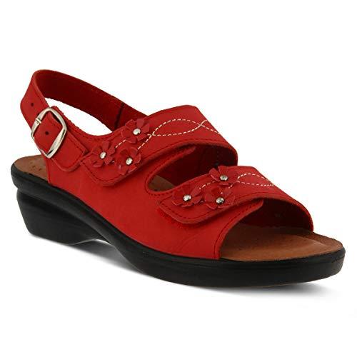 (Spring Step Flexus Women's Ceri Nubuck Slingback Sandal Red)