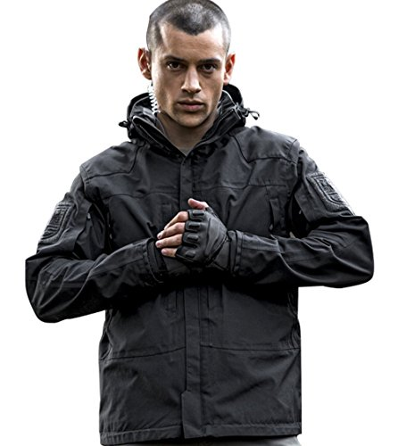 FREE-SOLDIER-Outdoor-Men-Waterproof-Breathable-Warm-Fleece-Lined-Tactical-Jacket