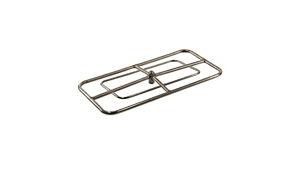 HPC Rectangle Stainless Steel Fire Pit Burner FRSR-24X12-NG Hearth Products Controls Natural Gas 24x12-Inch