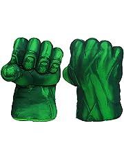 Hearthxy 1 paar handschoenen boksen kinderen grappig bokshandschoenen Big Hulk Smash Hands voor kinderen Cosplay kostuum cadeau 30 cm groen