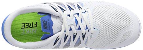 Nike Mens Gratis 5.0 Loopschoen Wit / Spook Blauw-foto Blauw-zuiver Platina