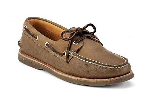 Sperry 0219477W: Top-Sider Men's Gold Cup A/O 2-Eye,Dark Tan Leather WIDE (Dark Tan Leather, 8.5 E (Allen Edmonds Boat Shoes)