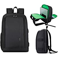 DSLR Camera Backpack, SLR Camera Bag Outdoor Bag With 15.6 Inch Laptop Compartment Include Removable Camera Organizer Carrying Bag for All SLR/DSLR, With Rain Cover - Green