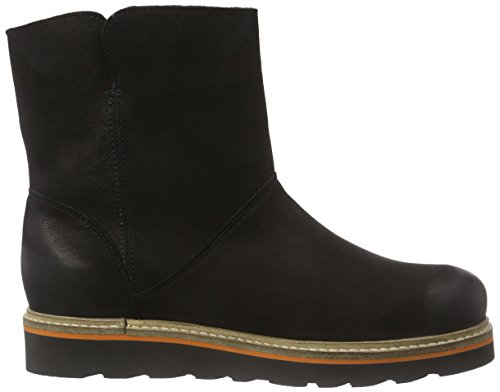 Apple of Eden Julia Damen Kurzschaftstiefel Schwarz (Black)