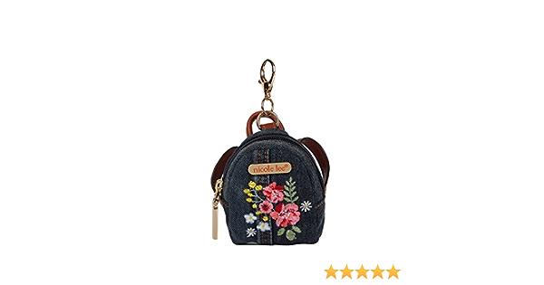 Embroidery Flower Mini  Kiss Lock Purse coins bag headphone bag Key chain  S052