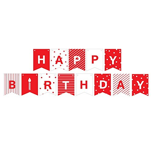 Happy Birthday Pull - (13cards+string)- Mini String Curtain Banner for Decorations, Birthdays, Children & Adults,Happy Birthday Party Supplies,Pull String Flags