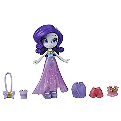 My Little Pony Equestria Girls Fashion Squad Rarity, 3-Inch Potion Mini Doll Toy with Outfit and Surprise Accessories for Kids 5 and Up: Toys & Games