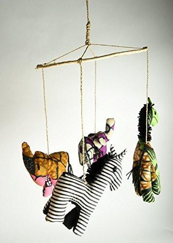 amazon com animal mobile hand crafted baby mobile made in uganda