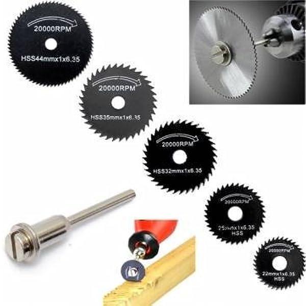 6pcs HSS Metal Circular Saw Disc Wheel Blades Cut off Dremel Drill Rotary Tool