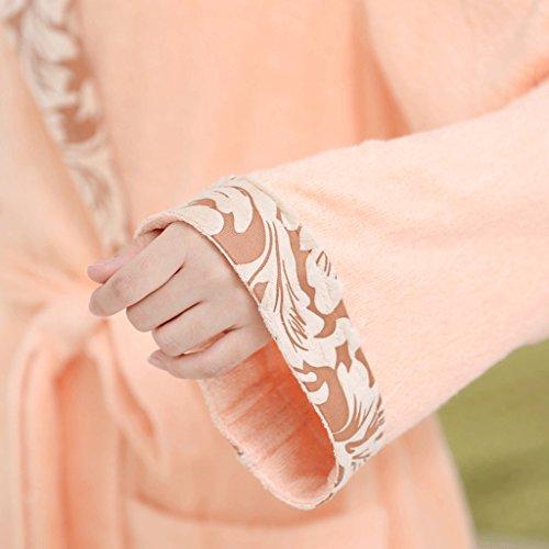 ZLR Accappatoio Fibra di bambù Accappatoio addensato Accappatoio da donna a maniche lunghe Autunno Inverno Stagione Abiti da casa Camicia da notte ( dimensioni : L. )