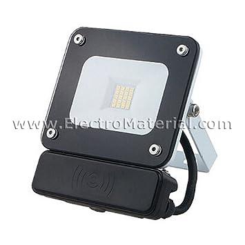 WERDEN - Proyector LED de Cristal IP65 en 10W Luz fría Negro con ...