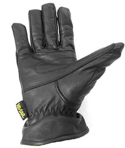 Zerimar Guanti da moto | in pelle 100% natural | Duro Comodo Flessible Nero