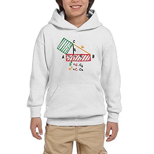 National Pi Day Funny Math Boys Pullover Hoodie Fashion Pocket Sweatshirts (Math Pi Hoodie Kids)
