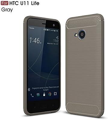 ZIRE HTC U11 Life Funda TPU Slim Silicona Case Cover [Anti-arañazos],móvil Caja del teléfono Cover, para HTC U11 Life Funda Case -Gris: Amazon.es: Electrónica