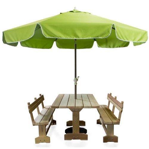 All Things Cedar Patio Umbrella, Green, 10'