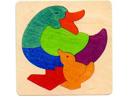 George Luck Rainbow puzzle duck (Luck Duck)