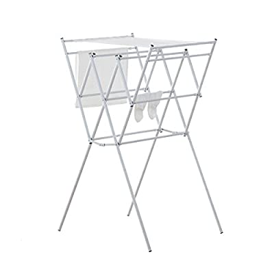 neatfreak Accordion Drying Rack with Mesh Top Shelf - Expands horizontally to nearly 3.5' or 91 cm Oversized top allows for laying clothes flat Mesh shelf for delicates & sweaters - laundry-room, entryway-laundry-room, drying-racks - 41YP1oJZhiL. SS400  -