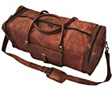24 Inch Square Duffel Travel Gym Sports Overnight Weekend Leather Bag For Sale