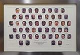 1996 NBA Top 50 Autographed Framed Lithograph Photo With 50 Signatures Including Michael Jordan & Wilt Chamberlain Beckett BAS #A19612 - Beckett Authentication