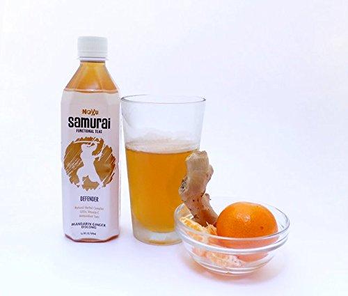 Noyu Teas Samurai Defender Mandarin Ginger Oolong Tea, 16.9-Ounce Bottles (Pack of 12) by NOYU (Image #3)
