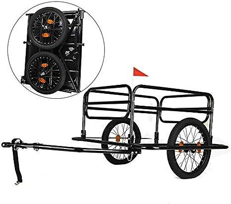 AdaLei - Carrito de Almacenamiento Plegable para Bicicleta y ...