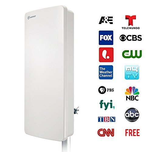 ANTOP AT-400B Indoor/Outdoor Digital Smartpass HDTV Antenna 80 Miles Multi-Directional VHF/UHF - 1 Year Warranty (Certified (Refurbished Flat Panel Tvs)