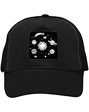 Unisex Sun and Planets Adjustable Classic Hiphop Hat Baseball Cap Snapback Dad Hat