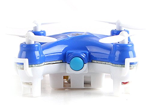 OWIKAR Mini RC Helicopter Aircraft 2.4GHz 6-Axis Gyro 4 Channel Quadcopter Drone LED Headless Mode Remote Control Plane Flight Vehicle Flying Toy- Blue