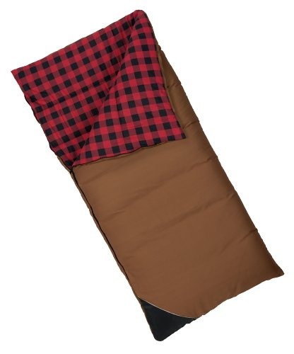 Wenzel Grande Oversize 0-Degree Sleeping Bag (Brown with Plaid Liner) ()