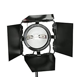 Godox 2400W Photo Video Film Studio Red Head Continuous Light Lighting Kit with 3x 800W 110V Barndoor Red Head with Bulb + 3 x Light Stand + 1 x Carry Bag