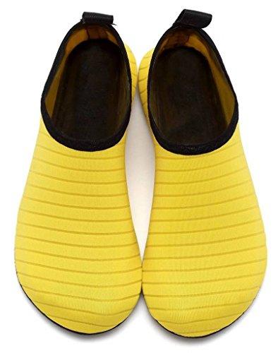 Secado de Zapatos Amarillo del COMVIP Aqua Yoga Piel Agua Calcetines rápido Hombres Barefoot de Adulto A6AwqTnv