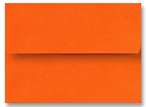 Shipped Free 200 Boxed Pumpkin Orange A1 Envelopes (3-5/8 X 5-1/8) for 3-3/8 X 4-7/8 Response Enclosure Invitation Announcement Wedding Shower Communion Christening Cards by The Envelope Gallery