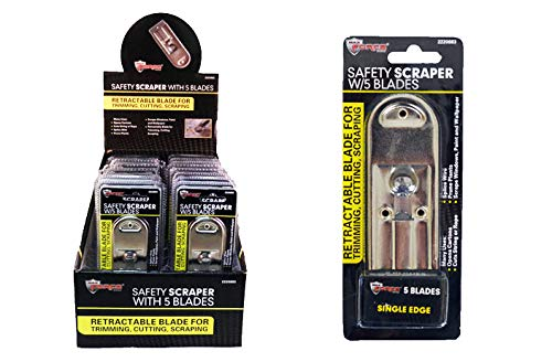 Safety Scraper with 5 Blades, Case of 80