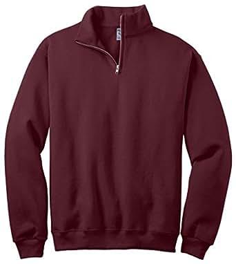 Jerzees 8 Ounce 50/50 Cadet Collar Sweatshirt, 2XL, Maroon