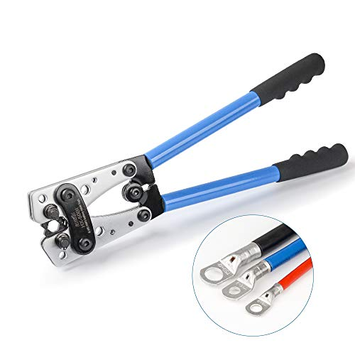 IWISS Wire Terminal Crimping Tool 6-50mm² Cable Lug Crimper Cu/Al Terminal Ratchet Electrician Plier (AWG10-1/0)