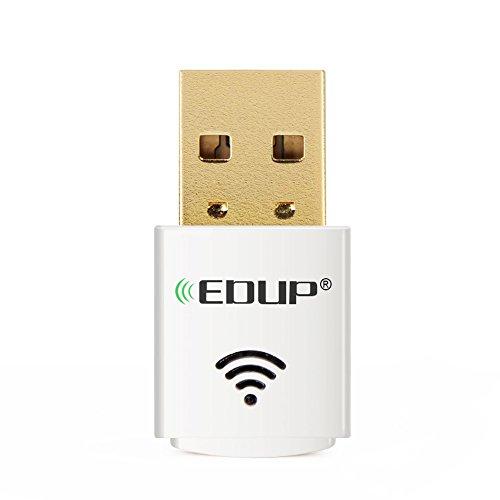 Kootek WLAN Stick 600Mbps dual band 2.4GHz / 5GHz Wifi Dongle USB Wireless Adapter für Windows XP / 7/ 8 / 8.1 / 10 / Mac / Linux (weiße)