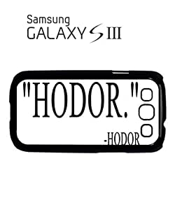 Hodor Quote Mobile Cell Phone Case Samsung Galaxy S3 White