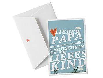 Vatertagskarte Gutschein Für Liebes Kind Lustige Glückwunschkarte