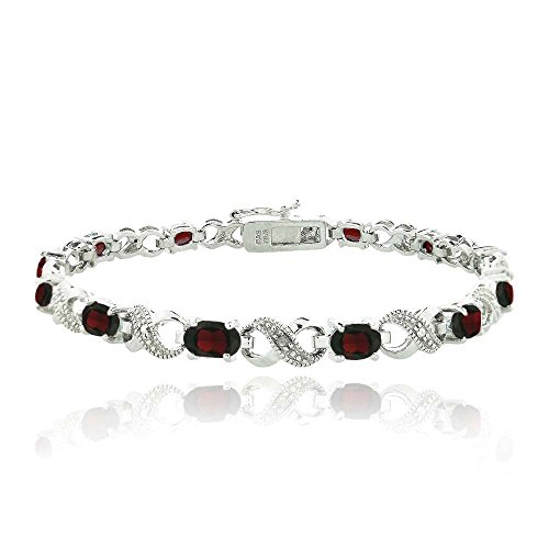 silver-tone-66ct-tgw-garnet-diamond-accent-infinity-links-bracelet