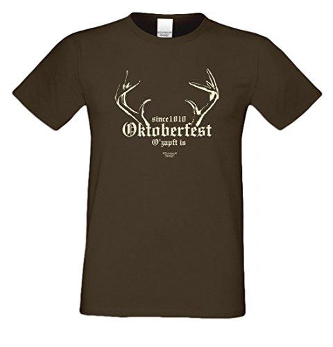 Wiesn T-Shirt statt Tracht & Dirndl - Since 1810 Oktoberfest - Lustiges Spruchshirt als Geschenk zum Volksfest gr5