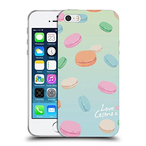 Official Cosmopolitan Macaroons Pastels Soft Gel Case for Apple iPhone 5 / 5s / SE