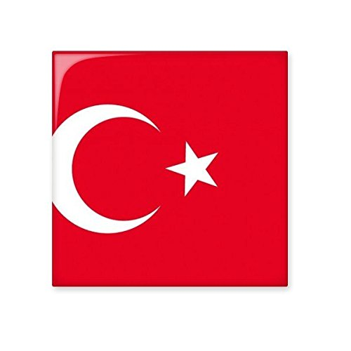 low-cost Turkey National Flag Asia Country Symbol Mark Pattern Ceramic Bisque Tiles for Decorating Bathroom Decor Kitchen Ceramic Tiles Wall Tiles