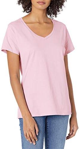Hanes Nano Premium Women's Cotton Tee V-Neck Shirt