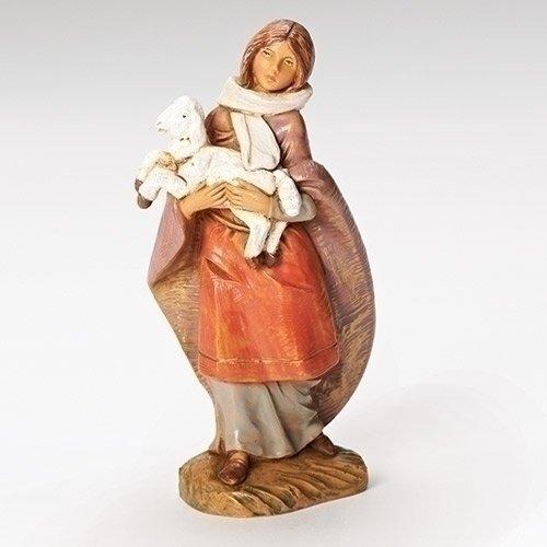 Nativity Lamb (Fontanini Emma the Shepherdess and Lamb Italian Nativity Villager Figurine 54079)