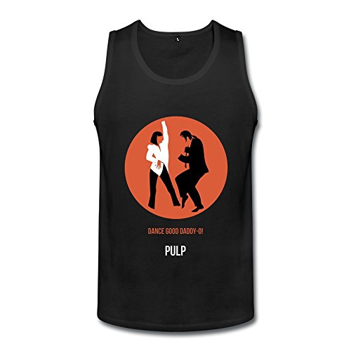 SFMY Men's Pulp Fiction Dance Poster Tank Top Size S (Pulp Fiction Merchandise compare prices)